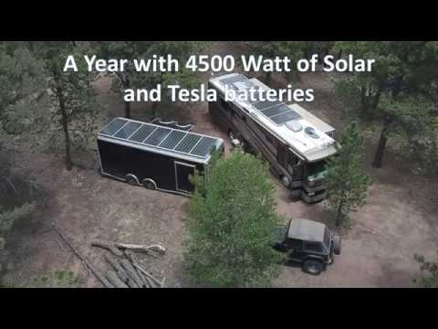 One Year with 4500 Watt of Solar and Tesla Batteries