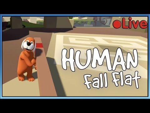 Human Fall Flat - W/Squid - 🔴 Live
