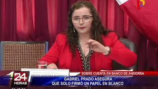 Gabriel Prado admite que su firma es la del documento del banco de Andorra