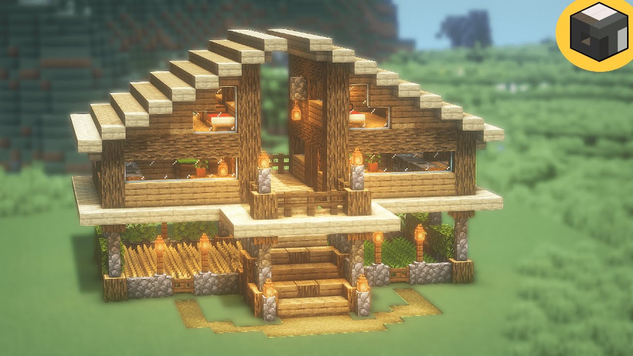 Minecraft: How to Build a SIMPLE SURVIVAL House  Minecraft House Tutorial