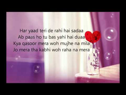 Sajna - Farhan Saeed - Lyrics Video