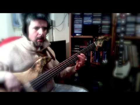 Domenica bestiale by Fabio Concato personal bass cover by Rino Conteduca with Elrick bass njs5