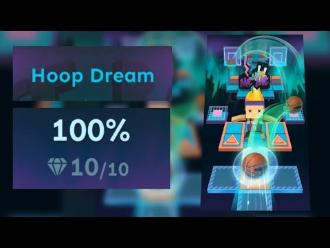 Rolling Sky Bonus lv.10 Hoop Dream 100% Clear - All Gems | SHA