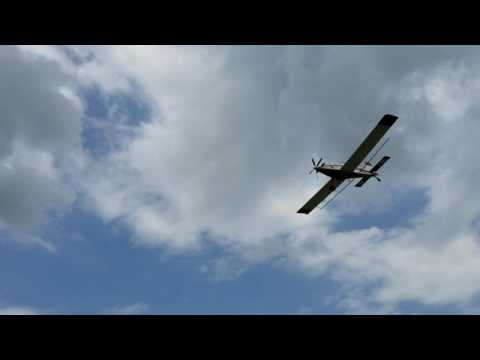 (7) Crop Duster Spraying Soybeans in Northeast Arkansas