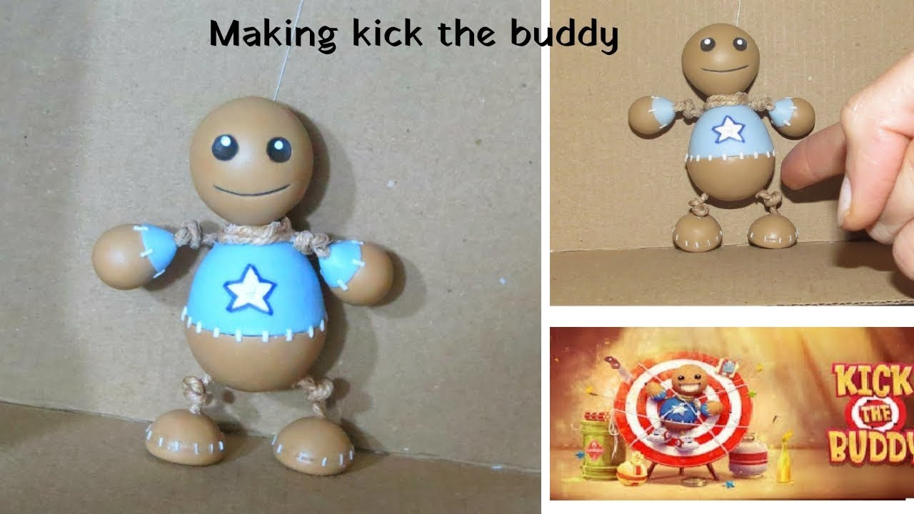 Making Kick The Buddy Game In Real Life Carboard Clay