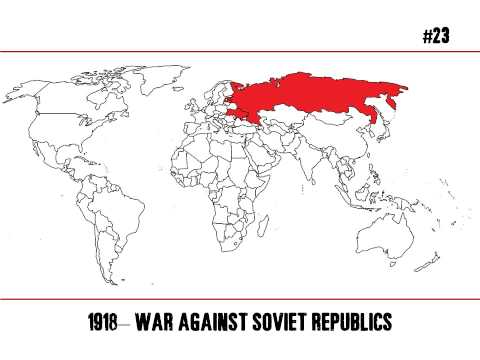 The United States at War & Covert Actions (1800-2015) - Time lapse