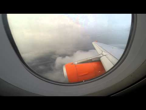 A319 EasyJet landing at Biarritz - G-EZGA