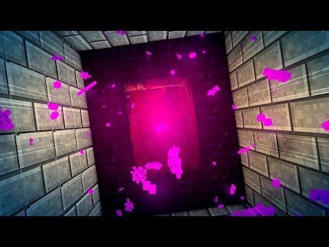 Komplett unsichtbarer Geheimgang hinter dem Minecraft Netherportal!