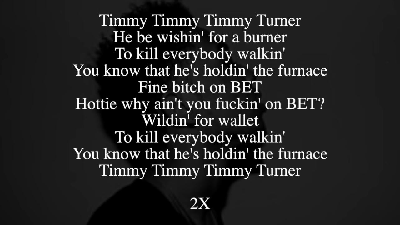 Desiigner Timmy Turner Lyrics Full Song Youtube
