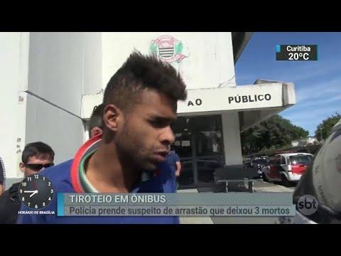 Suspeito de participar de arrastão a ônibus em São Paulo é preso   SBT Brasil (20/04/18)