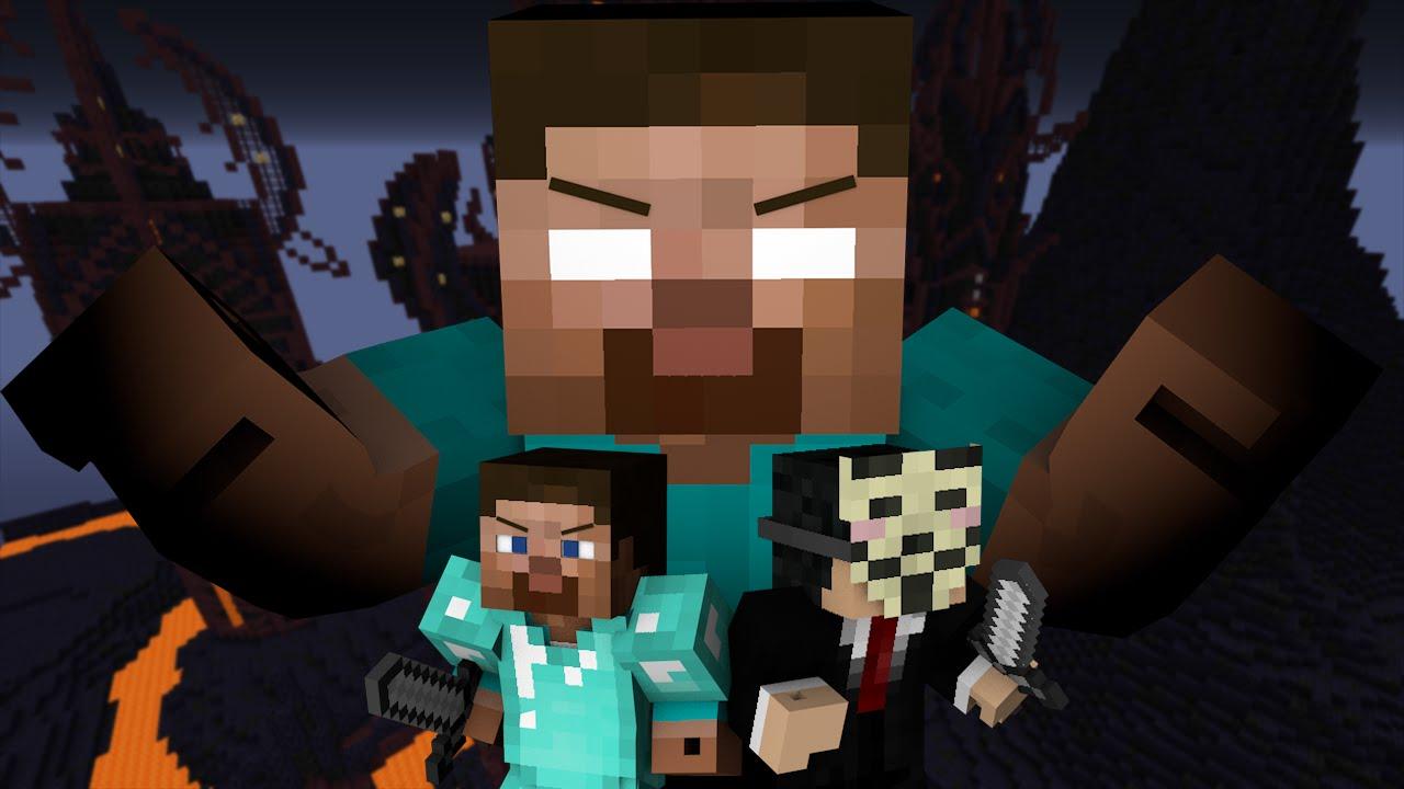 Pro and Hacker VS. Herobrine - Minecraft - YouTube
