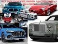AUDI - BMW - FLYING CARS - HYUNDAI - MERCEDES - TESLA - TOYOTA and ROLLS-ROYCE