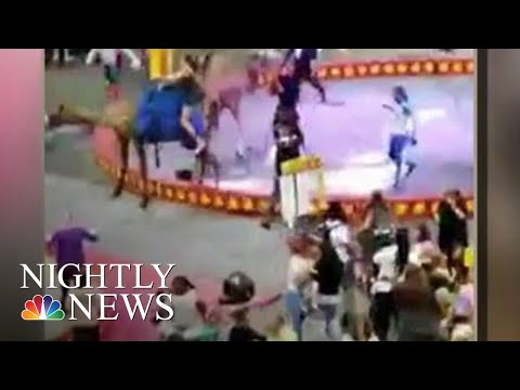 7 Injured When Camel Gets Spooked At Pittsburgh Circus  NBC Nightly News