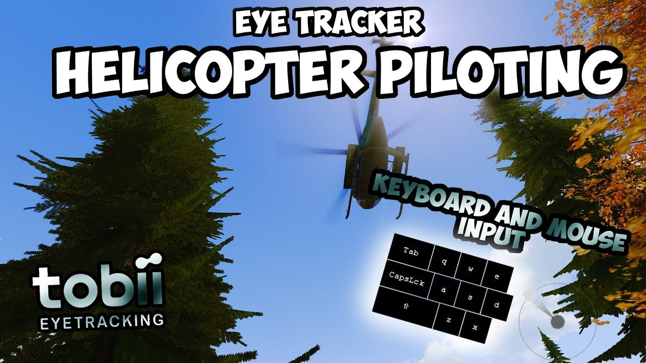 EYE TRACKER DEMONSTRATION | Arma 3 Helicopter Piloting #1 | Keyboard And  Mouse Input