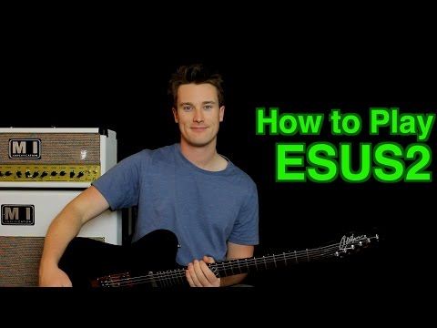 how to play e sus2 (suspended)