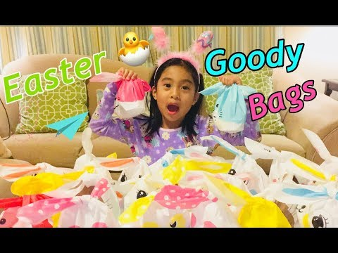 How to make Easter goody bags for Easter and or Birthday Parties close to Easter