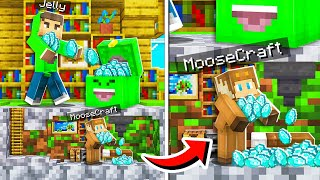 10 WAYS TO STEAL JELLY's DIAMONDS in MINECRAFT!