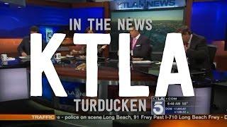 In The News: KTLA Turducken   Dog Haus