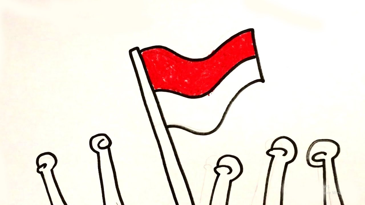 Menggambar Mewarnai Tema Hari Kemerdekaan Untuk Anak Youtube