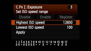 Canon EOS 1D Mark IV - Setting ISO Range 2/13