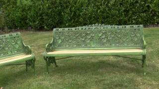 Pair Of Coalbrookdale Nasturtium Pattern Garden Benches