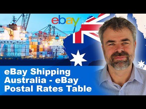 EBay Shipping Australia - EBay Postal Rates Table