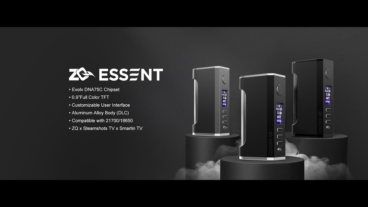 Box Essent 75w ZQ DNA75c - ZQ Vapor - YouTube