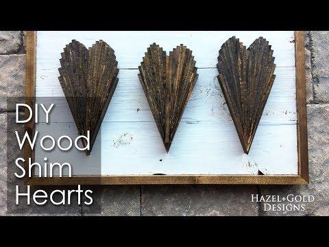 DIY Wood Shim Heart Tutorial