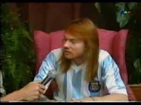 ENTREVISTA A AXL ROSE – ARGENTINA 1992