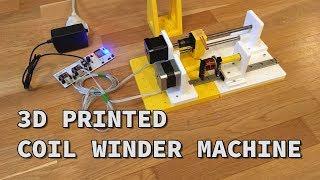 DIY 3D printed coil winder using ESP32