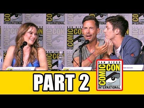 THE FLASH Season 3 Comic Con Panel Part 2  Grant Gustin, Candice Patton, Keiynan Lonsdale