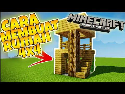 Cara Membuat Rumah Sederhana 4x4 Di Minecraft Youtube