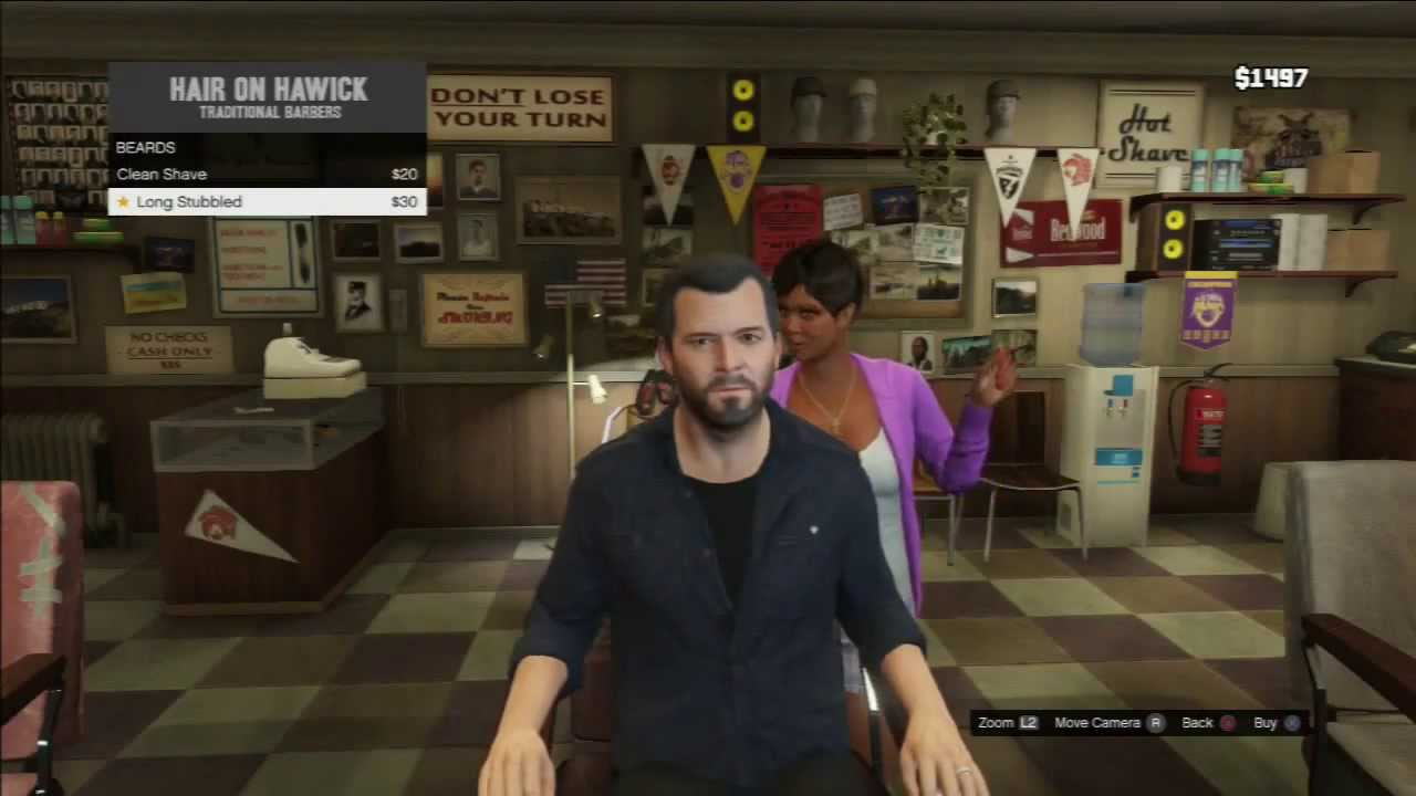 Grand Theft Auto V: Michael's Haircuts/Beards - Hair On ...