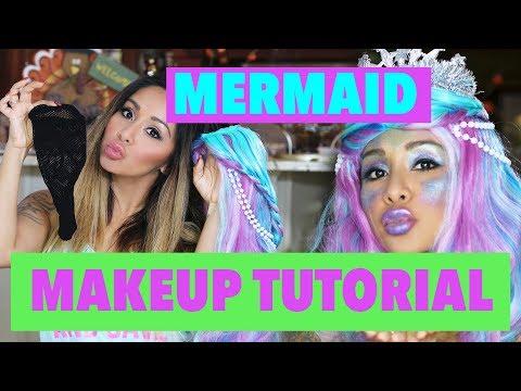Halloween DIY Mermaid Makeup Tutorial