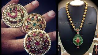 Colorful Meenakari South Indian Jewellery Designs