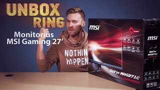 Atnaujintas lenktas žaidybinis monitorius   MSI Gaming 27'   Unbox Ring apžvalga