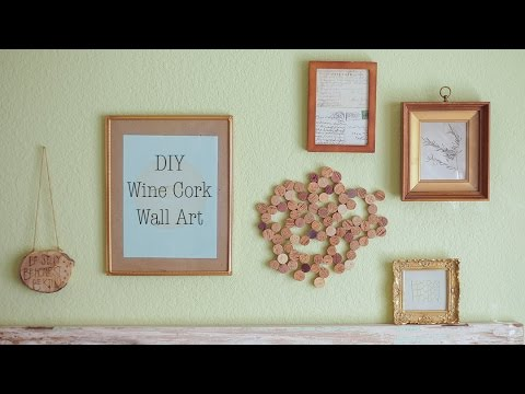 Wine Cork Wall Art wine cork wall art - youtube