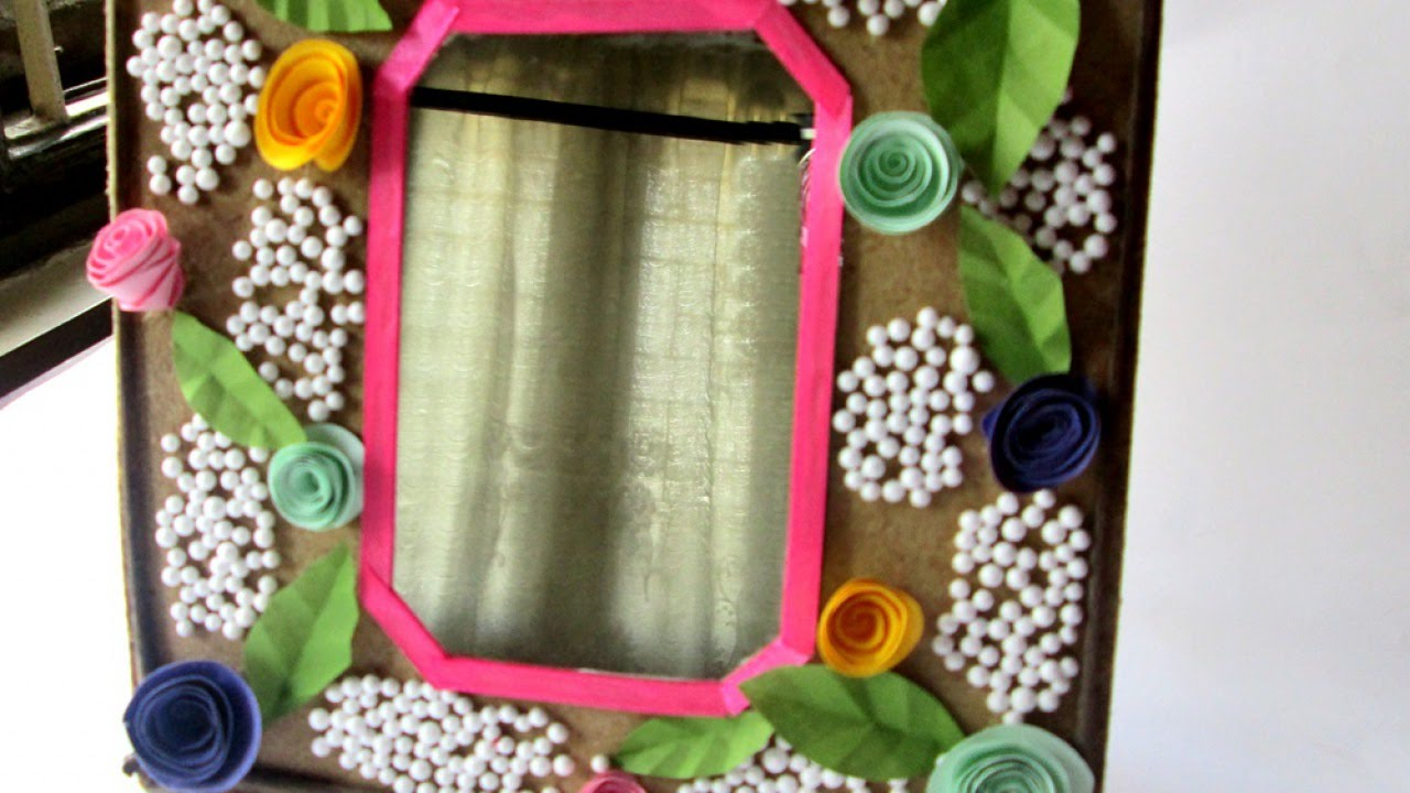 make a decorated mirror frame diy home guidecentral - Decorated Mirror