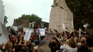 Protest Against Lifting The Ban On Fox hunting UK
