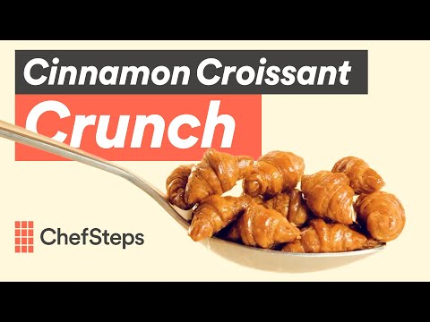 How to make tiny, crispy croissant cereal from scratch: ChefSteps Cinnamon Croissant Crunch