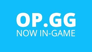 OP.GG - Now available in-game!