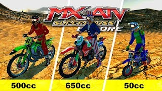 MX vs ATV Supercross Encore - 500cc/650cc/50cc - RANDOM BIKE TESTING!