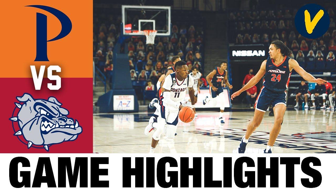 Pepperdine vs #1 Gonzaga Highlights | 2021 College Basketball Highlights