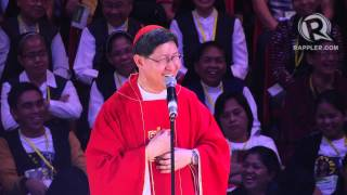 When a girl tells Cardinal Tagle: