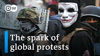What do the protests around the globe have in common?   DW News