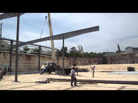 Butler buildings steel erection Bahamas