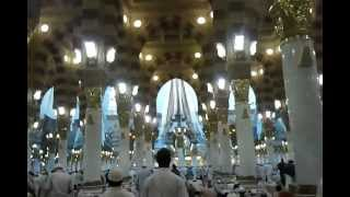 Entering Prophet Muhammed's Mosque. Medina. Saudi Arabia.