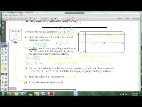Unit 2 Lesson 6: Solving Radical Equations Part 1