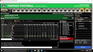 2016 FANTASY FOOTBALL MOCK DRAFT (PPR 10 TEAM)