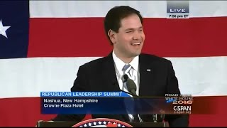 • Sen. Marco Rubio • New Hampshire Republican Leadership Summit • 4/17/15 •